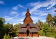 Leinwanddruck Bild - Gol Stave Church Folks museum Bygdoy peninsula Oslo Norway Scandanavia