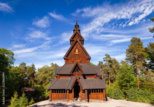 Gol Stave Church Folks museum Bygdoy peninsula Oslo Norway Scandanavia - 221866994