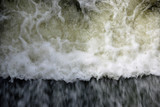 Water flowing over a weir - 221867997