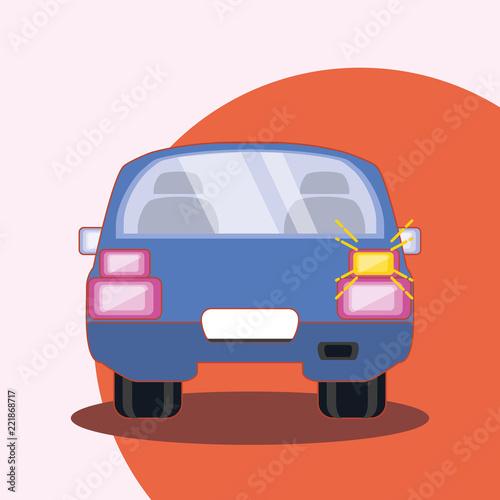 Tapeta purple car icon