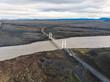 Brücke im Hochland, Luftaufnahme, Island II