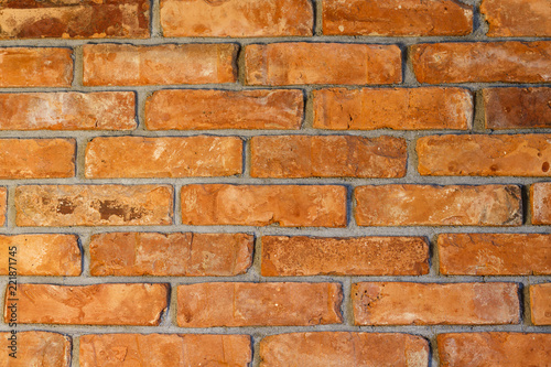Fototapeta Red bricks wall./ Brick wall red background with texture