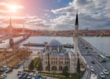 Aerial view of Sokollu Mehmet Pasa Mosque and The Bridges in Istanbul Turkey - 221871920