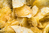 potato crisps close up - 221872546