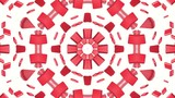 geometric patterns of red color. abstract background. 3D rendering - 221873900