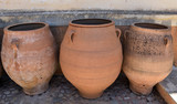 Clay vases in the old town of Crete, Greece - 221881317