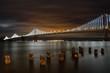 Leinwandbild Motiv San Francisco Bay Bridge night lights
