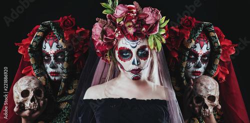 Leinwanddruck Bild horror death spirit