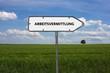 Neutrales Bild auf dem das Wort Arbeitsvermittlung abgebildet ist. Abstrakte Illustration - 221887950