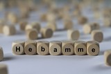 Hebamme - Holzwürfel mit Buchstaben