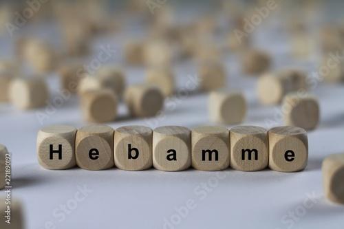 Hebamme - Holzwürfel mit Buchstaben - 221890192