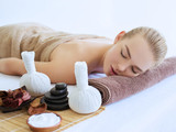 Woman's relaxing in a spa salon - 221891362