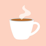 hot coffee cup icon- vector illustration - 221897782