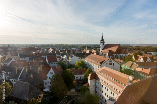 Foto Murales View of the old town of Torgau in Saxony, Germany