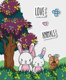 Lovely animals cartoon