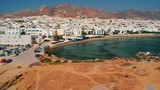 White houses and the beach of Saint George on the island of Naxos. - 221909925
