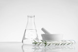 laboratory and research with alternative herb medicine - 221909988