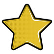 Isolated star icon. Comic pop art. Vector illustration design - 221914149
