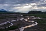 Streams on plain near Qilian, Qinghai, China - 221924936