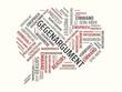 Das Wort - Gegenargument - abgebildet in einer Wortwolke mit zusammenhängenden Wörtern - 221929303