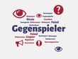 Das Wort - Gegenspieler - abgebildet in einer Wortwolke mit zusammenhängenden Wörtern - 221929305