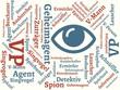 Das Wort - Geheimagent - abgebildet in einer Wortwolke mit zusammenhängenden Wörtern - 221929306