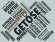 Das Wort - Getöse - abgebildet in einer Wortwolke mit zusammenhängenden Wörtern - 221929319
