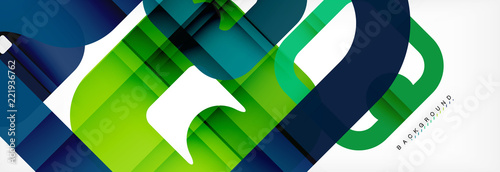 Square geometric background, multicolored template for business or technology presentation or web brochure cover layout, wallpaper. - 221936762