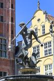 17th century Neptune's Fountain Statue at Long Market  Street