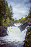 Водопад Кивач. Карелия. The Kivach waterfall Karelia