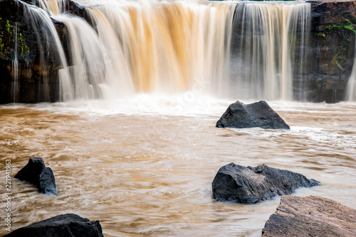 Tat Ton Waterfall in Chaiyaphum province Thailand in the rainy season - 221941963
