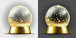 Realistic gold transarent snow ball