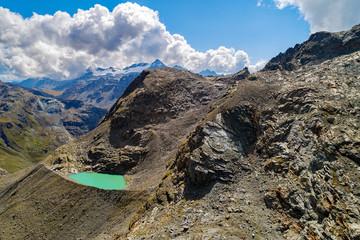 Valmalenco (IT) - Lago di Fellaria - Vista aerea