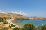 Saint Paul's Bay In Lindos On The Island Of Rhodes - 221943767