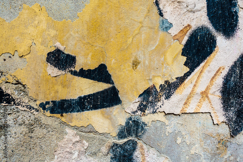 Detail graffiti on wall texture and background - 221943779