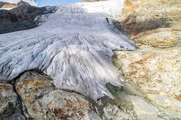 Alta Valmalenco (IT) - Vista aerea del ghiacciaio di Fellaria Occidentale - settembre 2018