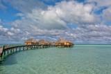 polynesia paradise resort overwater bungalow - 221944731