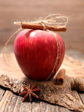 red apple and cinnamon - 221945555