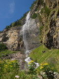 Fallbach-Wasserfall im Maltatal / Oberkärnten / Österreich