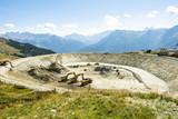 Bau eines Wasserspeicherbeckens zur Beschneiung im Winter, Bettmeralp, Wallis,  - 221948121
