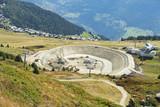 Bau eines Wasserspeicherbeckens zur Beschneiung im Winter, Bettmeralp, Wallis,  - 221948191