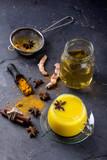 Tumeric milk with spices - 221951305