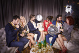 Group of people at new year's party - 221953584
