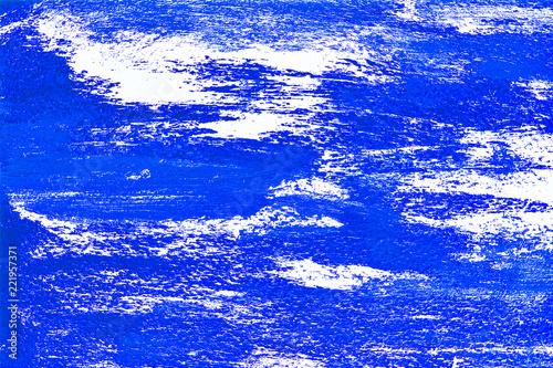 Leinwandbild Motiv Blue white painted background with brushstrokes. Acrylic background