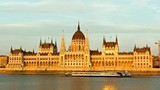 Budapest - parliament at sunset - time lapse. day to night. Hungary - 221957568