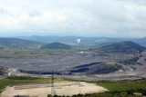 open pit coal mine and thermal power plant - 221959343