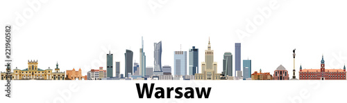 Warsaw vector city skyline - 221960582
