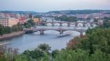 Bridges of Prague including the famous Charles Bridge, Czech Republic - 221962164