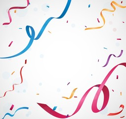 Happy birthday banner with colorful light bulb