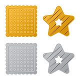 Vector design of biscuit and bake icon. Collection of biscuit and chocolate stock symbol for web. - 221968765
